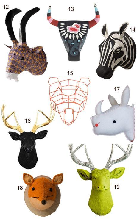 Get The Look 45 Faux Animal Heads Paperblog
