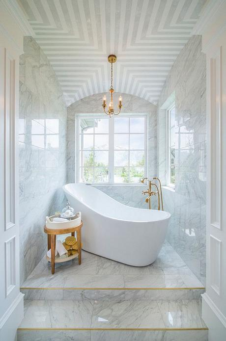 Bathroom Ceiling. Bathroom ceiling treatment ideas. Bathroom ceiling ideas. #Bathroom #Ceiling Joe Carrick Design.: