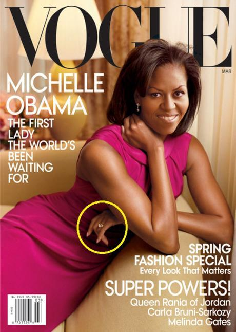 Michelle Obama on March 2009 Vogue cover