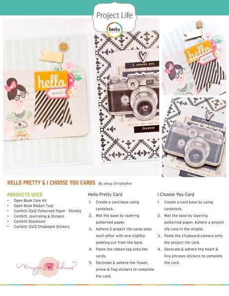 Maggie Holmes Design Team : Open Book Handmade Cards + PDF
