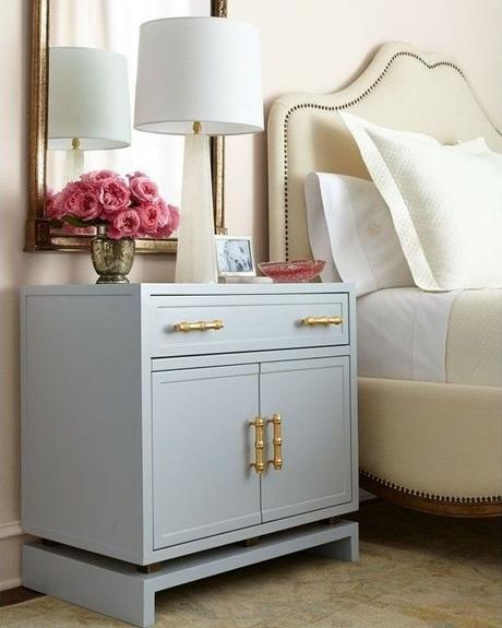 Nightstand too low? Make a platform and paint or stain it the same color as your nightstand to raise it up to the appropriate level. Helps to either extend the life of your existing tables or helps make imperfect thrift pieces fit their new homes.: