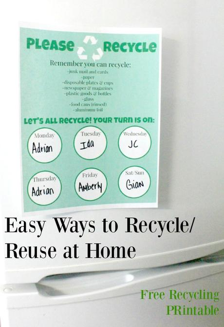 easy ways to recycle and re use at home free printable