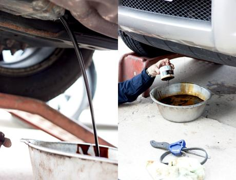 Emergency car kit diy how to change your oil paperblog for Where to dispose of old motor oil