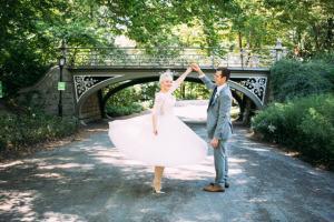 Central Park E&L Wedding bridge