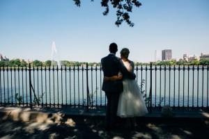 Central Park E&L Wedding Reservoir