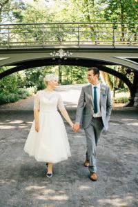 Central Park E&L Wedding bridge two