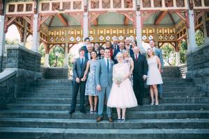 Central Park E&L Belvedere Castle Wedding group