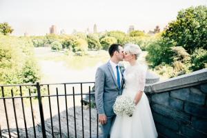 Central Park E&L Belvedere Castle Wedding terrace