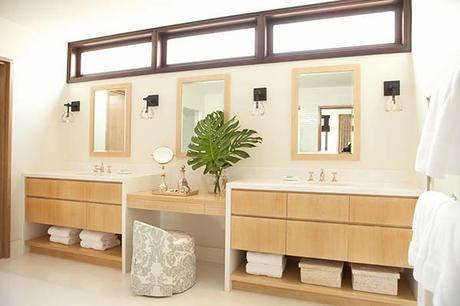 modern bathroom floating vanity dual single double style design wood minimal