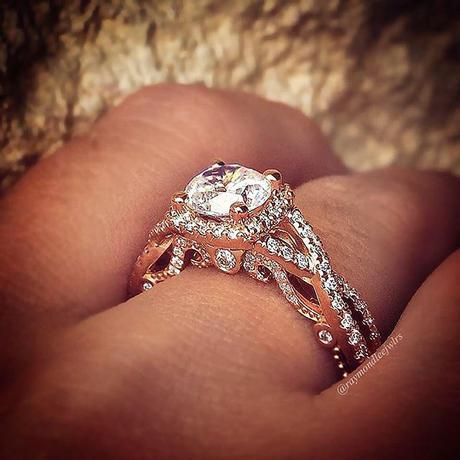 Verragio rose gold engagement ring mounting