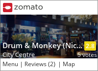 Drum & Monkey (Nicholson's) Menu, Reviews, Photos, Location and Info - Zomato