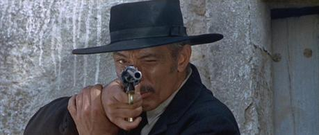When Lee Van Cleef is aiming a .45-caliber revolver with a 10