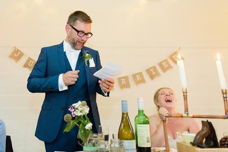 Wedding speeches at Barmbyfield Barn