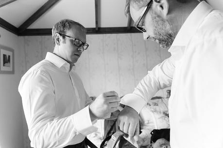 Groom Preparation for Barmbyfield Barn Wedding