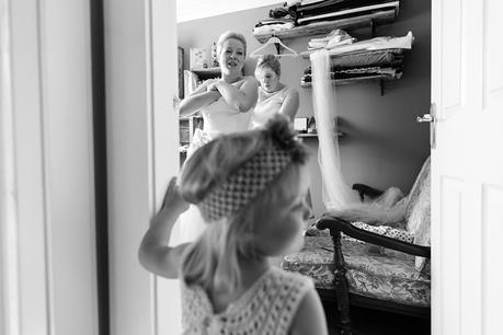 Bride Preparation for Barmbyfield Barn Wedding