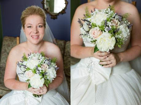 Bride Preparation for Barmbyfield Barn Wedding portrait
