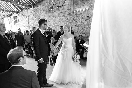 Ceremony at Barmbyfield Barn Wedding