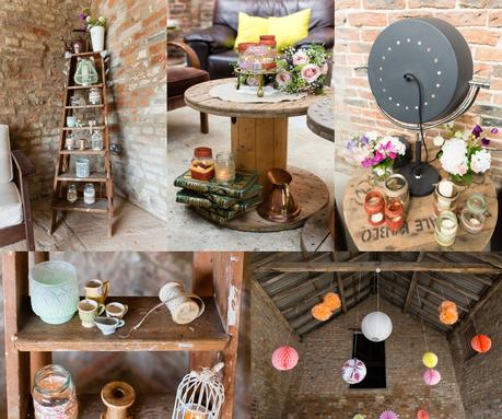 Rustic sewing details at barmbyfield barn wedding DIY