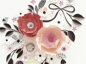 Scandinavian-style Paper Sculpture Flowers Hanna Nyman