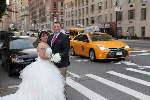 D&M Central Park Wedding NYC street