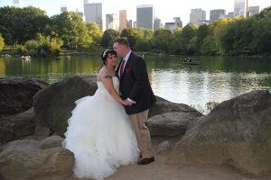 D&M Central Park Wedding Lake