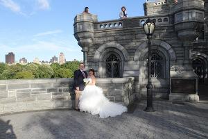 D&M Central Park Wedding Belvedere Castle Terrace