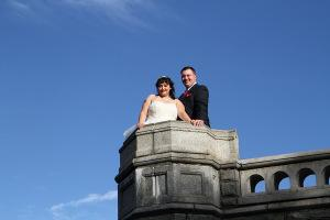 D&M Central Park Wedding Belvedere Castle Terrace turret