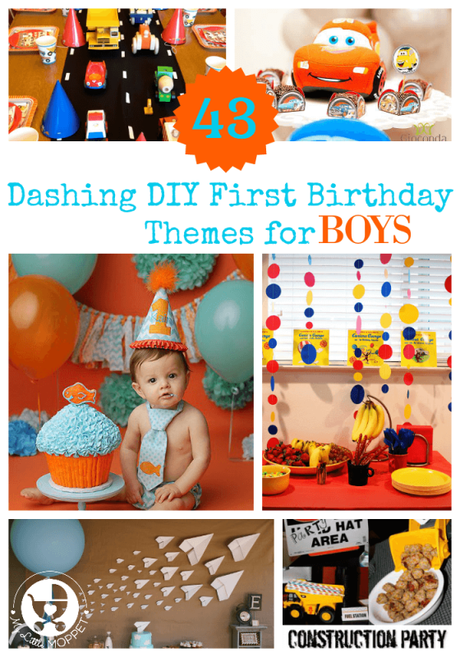 43 Dashing DIY Boy First Birthday Themes