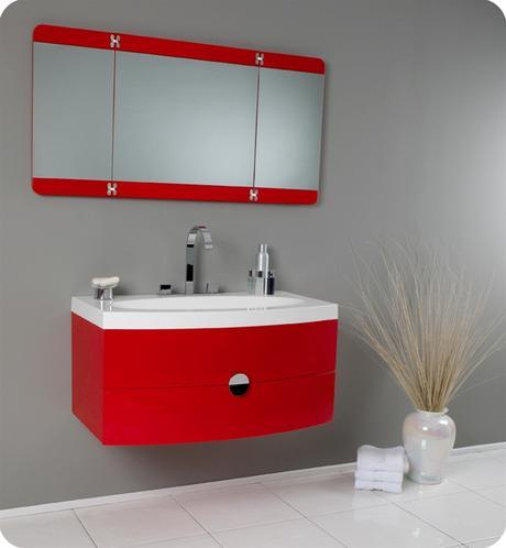 energia single bathroom vanity red modern floating bold style design colorful color