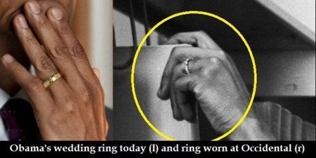 Obama's ring today & ring worn at Occidental College in 1981