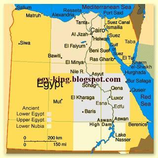 Ancient Egypt Maps - Paperblog