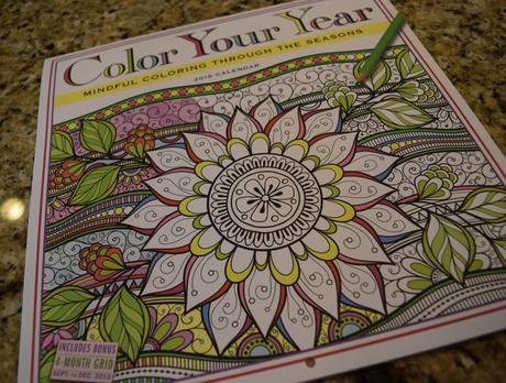 2016 Adult Coloring Calendar, Color Your Year
