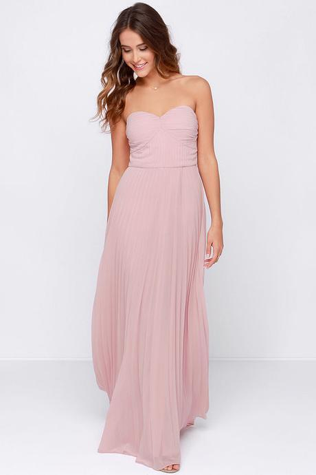 LULUS Exclusive Always Charming Strapless Blush Pink Maxi Dress
