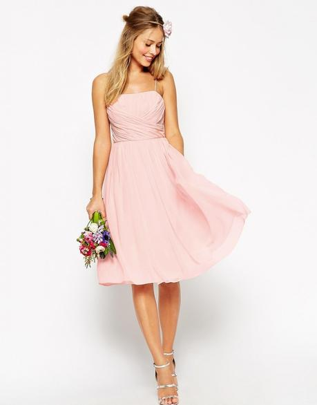 15 Blush Bridesmaid Dresses Under 250