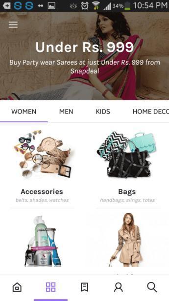 Baggout versus Voonik Shopping App
