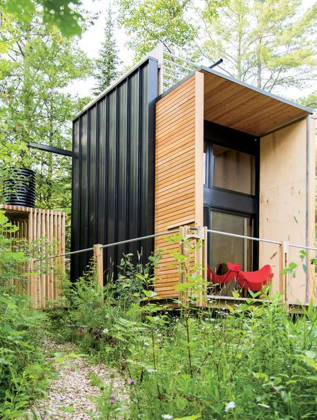 Wisconsin cabin with rainwater catchment system by Revelations Architects/Builders.