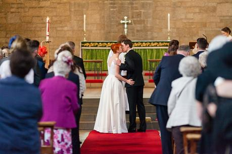 Leeds Club Wedding Photography Ceremony First Kiss
