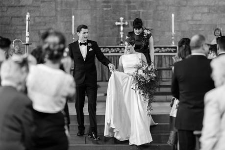 Leeds Club Wedding Photography Ceremony Smiling Exit