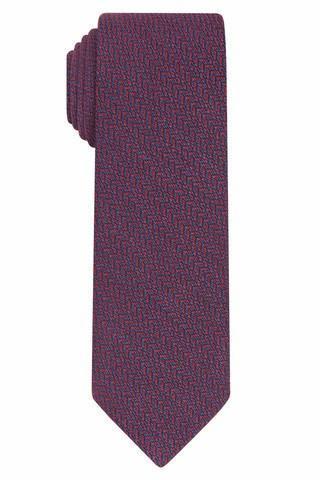 skinny red heringbone tie