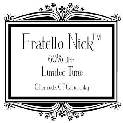 Limited Time Offer: Fratello Nick™ Font (60% OFF)