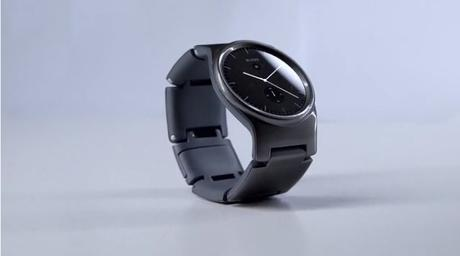 Black BLOCKS smartwatch from the side