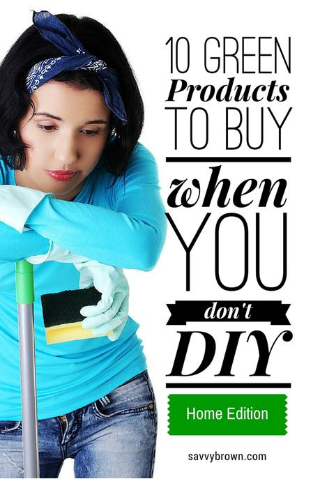 savvy brown, green products to buy, no diy