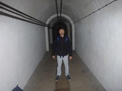 In the Jersey War Tunnels.