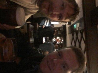 Austin and I in the Peirson Pub - yes, I've tried turning the photo round!