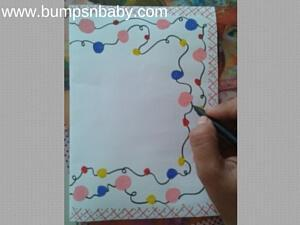 Diwali Greeting Cards DIY with Toddlers and Kids