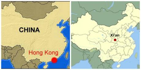 hong kong and china map