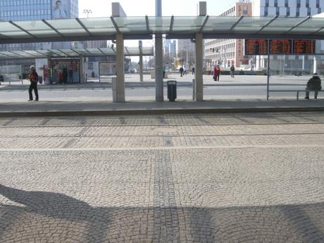 Olomouc Train Station Transport Hub, Czech Republic - View from Train Station Towards Tram and Bus Platforms