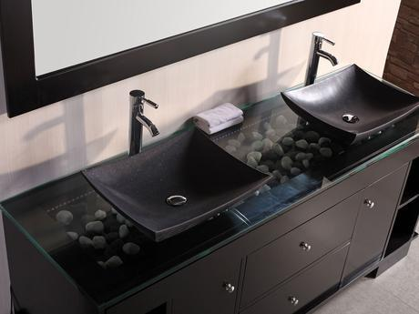 oasis double vessel sink vanity bathroom luxury products floating masculine design theme style tips ideas advice designer wall mounted
