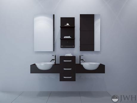 modus double dual wall mounted vanity modern masculine floating design style theme ideas tips advice how to designer luxury bathroom sophisticated