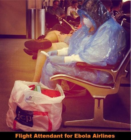 woman in hazmat suit in Dulles